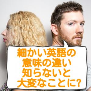 細かい意味の違い~9割の日本人が使い方を間違える英単語